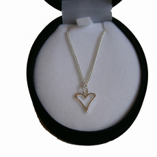 Image for Silver Love Heart Necklace