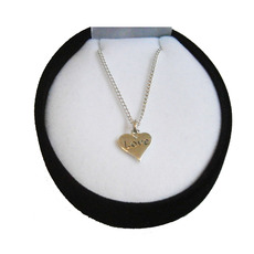 "Image for Sterling Silver Heart ""LOVE""  Necklace"