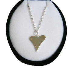 Image for Sterling Silver Funky Heart Necklace