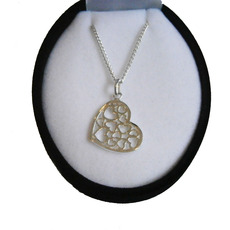 Image for Silver Multi Heart Necklace