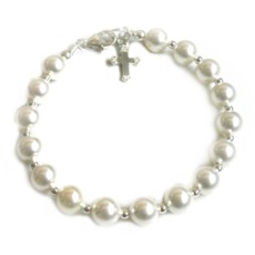 Image for Swarovski Pearl and Sterling Silver Bracelet