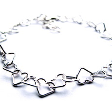 Image for Sterling silver love heart bracelet