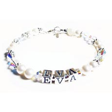 Personalised  Baby or Christening Bracelet - EVA