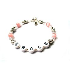 Love Heart Name Bracelet - Grace Design