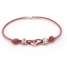 Personalised Leather Bracelet - Claudia Design