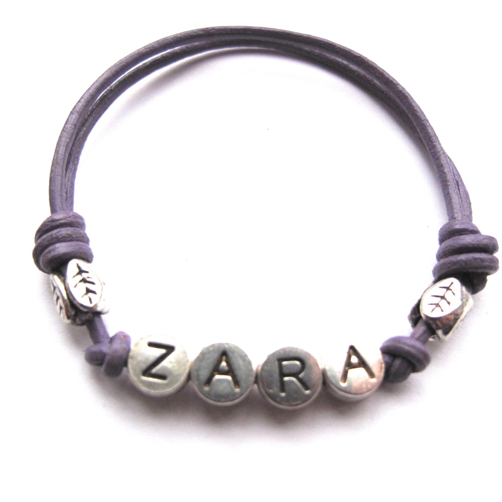 surfer style leather named writstband bracelet all