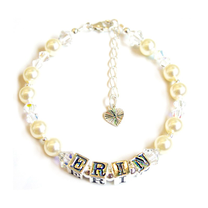 personalised and pearl baby or christening